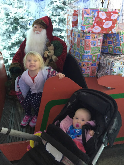 Tin Box Tot and Baby in Santa's Winter Walk at Keydell Nurseries