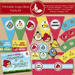 angry birds party free kit da stampare