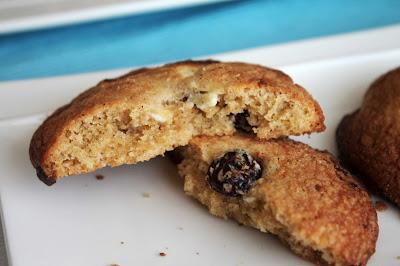 Receta cookies_Cookies de chocolate blanco_Cookies de arándanos