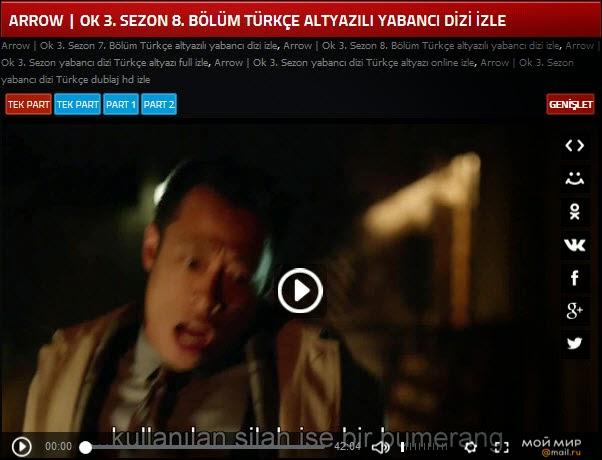 Arrow Ok 3 Sezon 8 Bölüm Türkçe Altyazılı Yabancı Dizi Izle