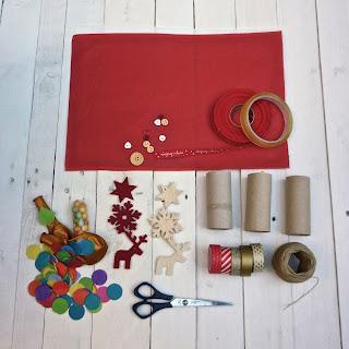 materiel nécessaire pour faire christmas crakers, handmade, diy