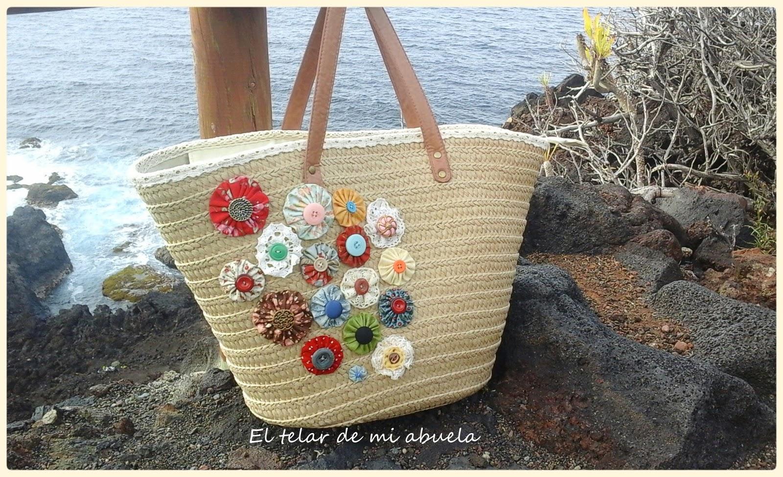 El telar de mi abuela cesta para la playa - Cestas para la playa ...