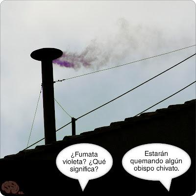 Fumata violeta