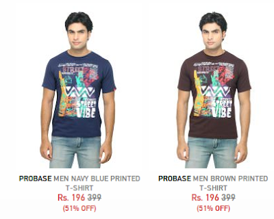 Free shop Low cost,low price T-shirt in india by Myntra @ Rs 196 only
