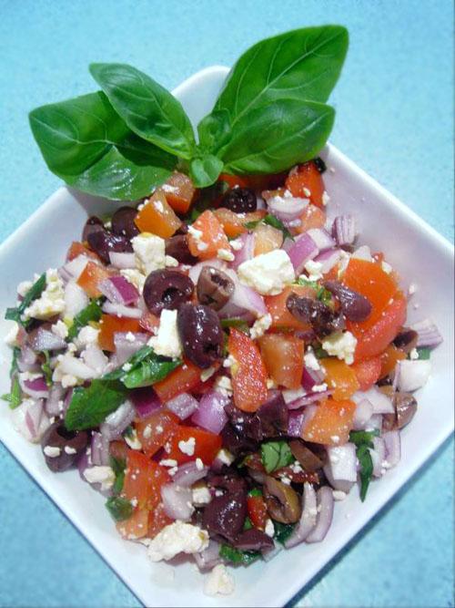 ... Recipes: Tomato, Basil and Feta Cheese Salad recipe – 64 calories