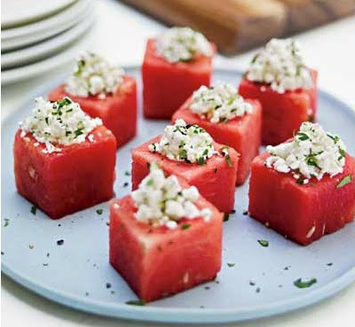 water melon and feta