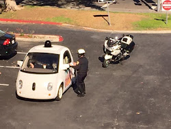 Google Self-driving Car Pulled Over For Driving 25 mph In A 35 mph Zone, And Obstruction of Traffic