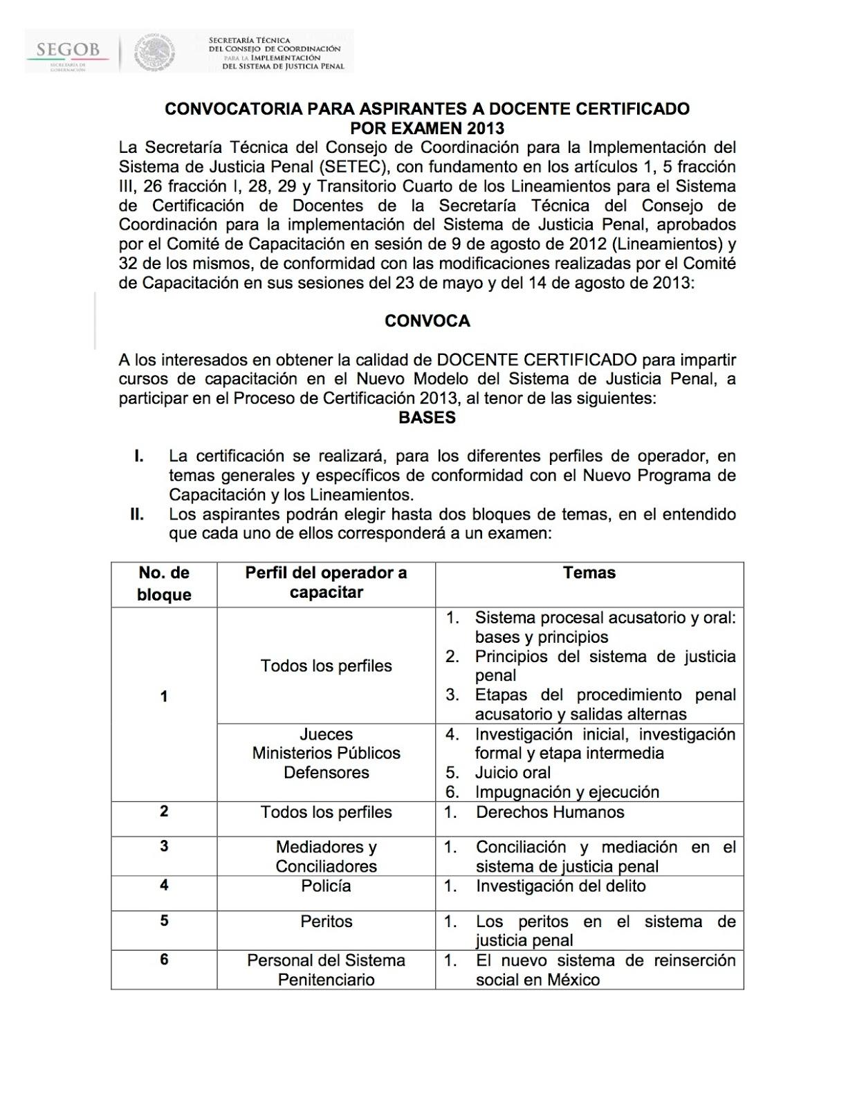 Actualizaci n forense legal convocatoria para aspirantes for Convocatoria para docentes