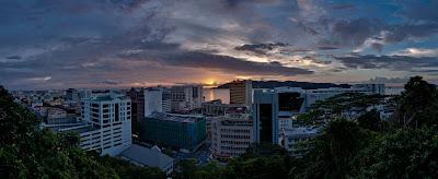 Kota Kinabalu at sunset