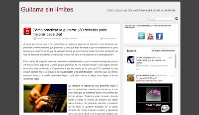 Directorio musical de webs y blogs relacionados con el mundo de la música. Agrega tu blog. Guitarra sin Límites en Directoriopax