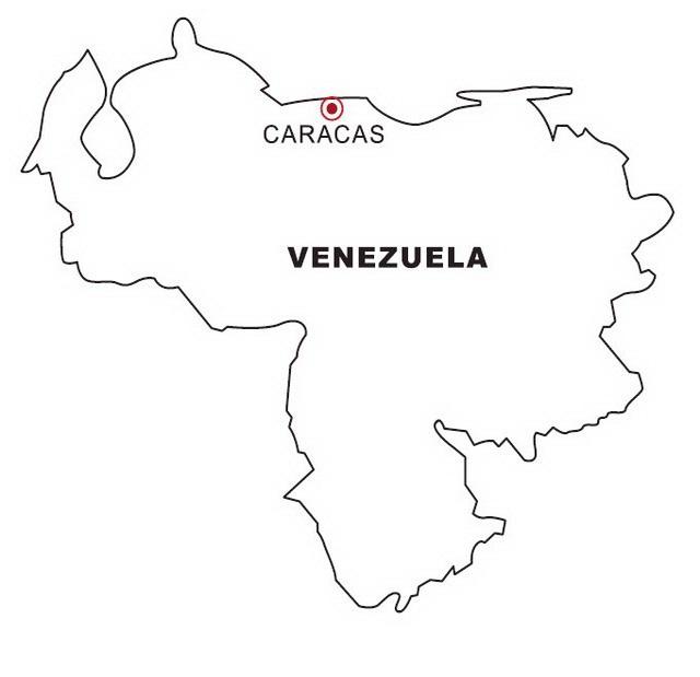 COLOREA TUS DIBUJOS: Mapa de Venezuela para colorear