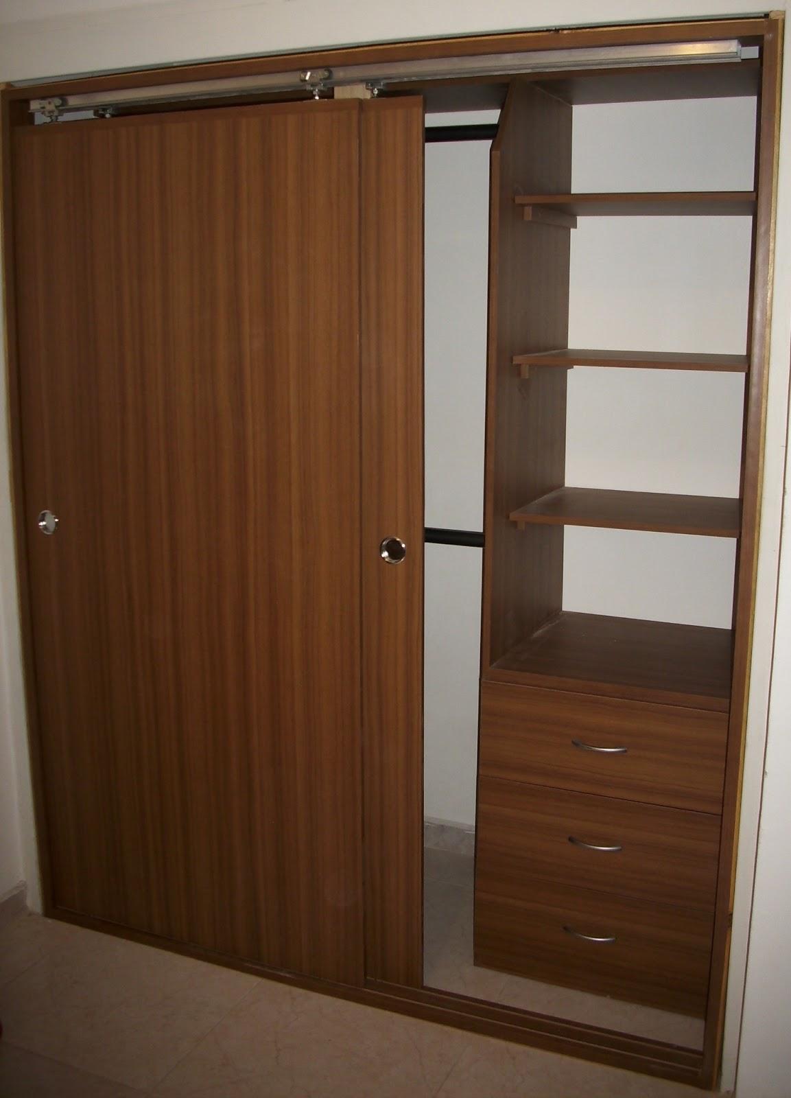 Melamina madera for Decoracion closet en madera