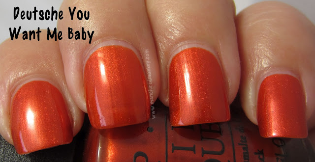 OPI Germony - Deutsche You Want Me Baby