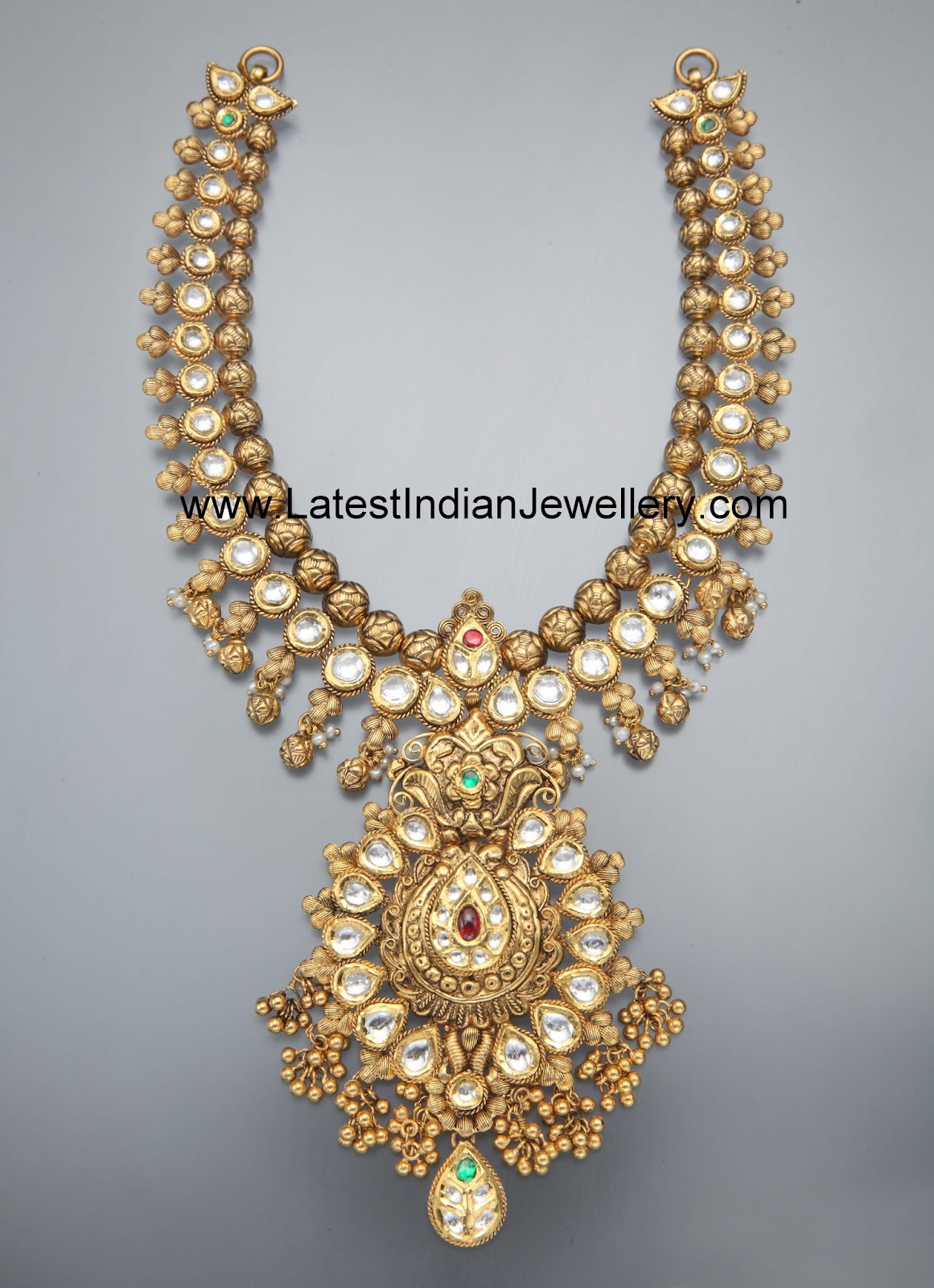 heavy antique kundan necklace approximate weight 110gms