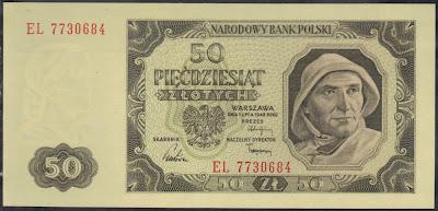 Polonia 50 Zlotych 1948 P# 138
