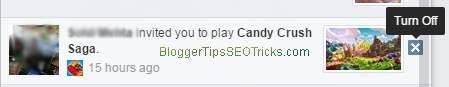 way to stop notification candy crush soda by notification panel