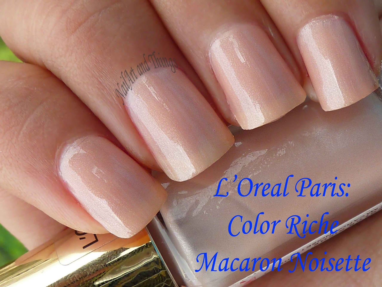 NailArt and Things: L'oreal Color Riche: Macaron Noisette+ French ...