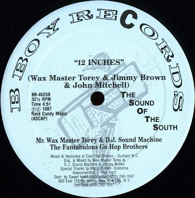 "Waxmaster Torey & DJ Sound Machine – 12 Inches The Hard Way – 12"" – 1987"