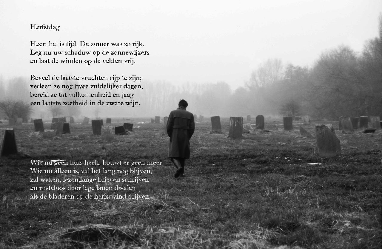 Rilke gedicht herfstdag