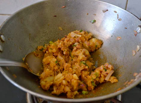 Potato stuffing for aloo paratha