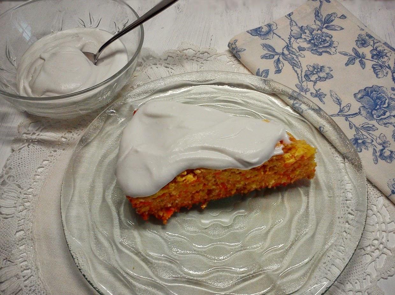 Tarta de Zanahoria, Coco y Naranja
