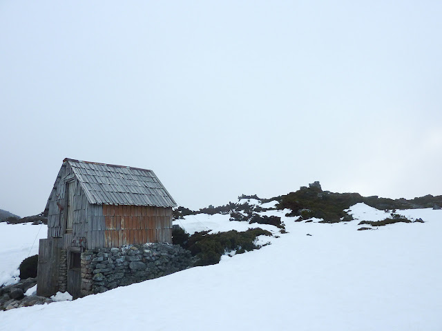 kitchen hut in snow