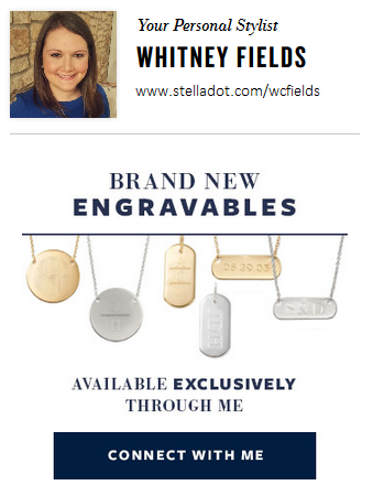 Stella & Dot Engravables