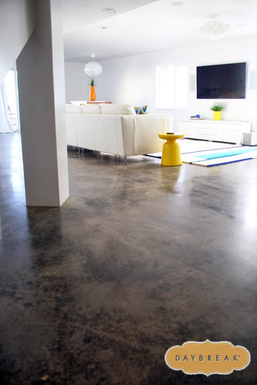 love the concrete floors in the basement how to get a modern look in