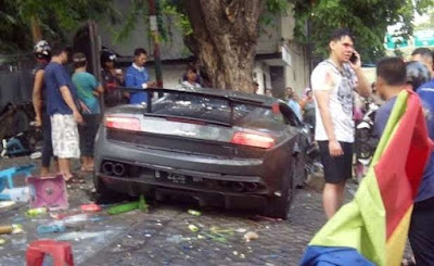 Tabrakan maut Lamborghini