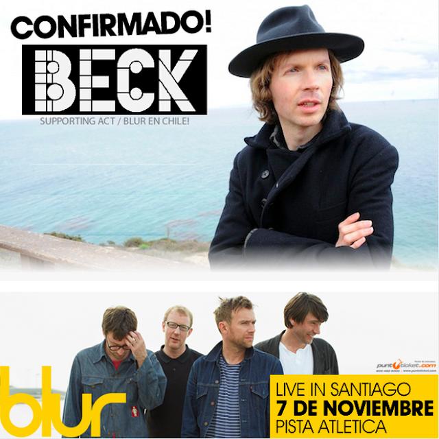 beck blur, blur planeta terra 2013, blur chile tickets, blur chile, blur santiago, blur live in santiago, blur beck santiago, blur support act, blur tour 2013, blur news 2013