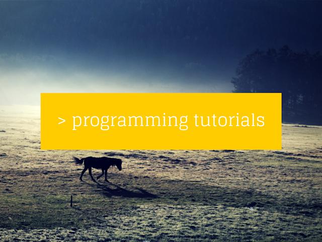 Best Programming Tutorials