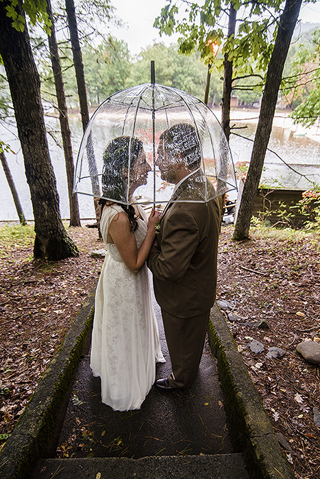 Umbrella in the Rain - Douthat State Park Wedding Photography