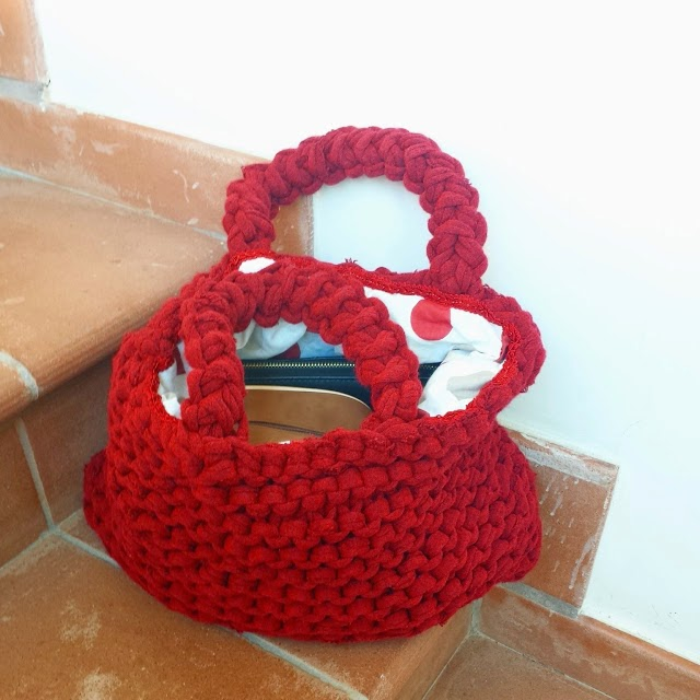 The handmade red bag