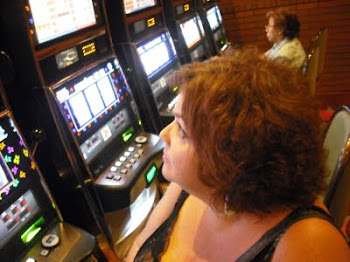 my girlfriend at a slot machine