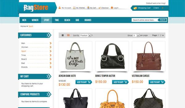 Bag Store Magento Theme