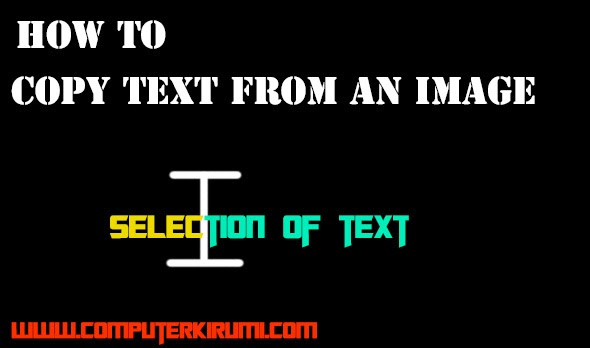 How To Copy Text From An Image