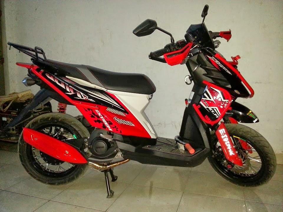 modifikasi motor yamaha x ride