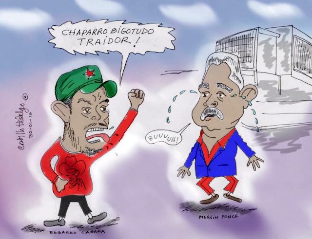 Caricatura de Marvin Ponce y Adgardo Casana