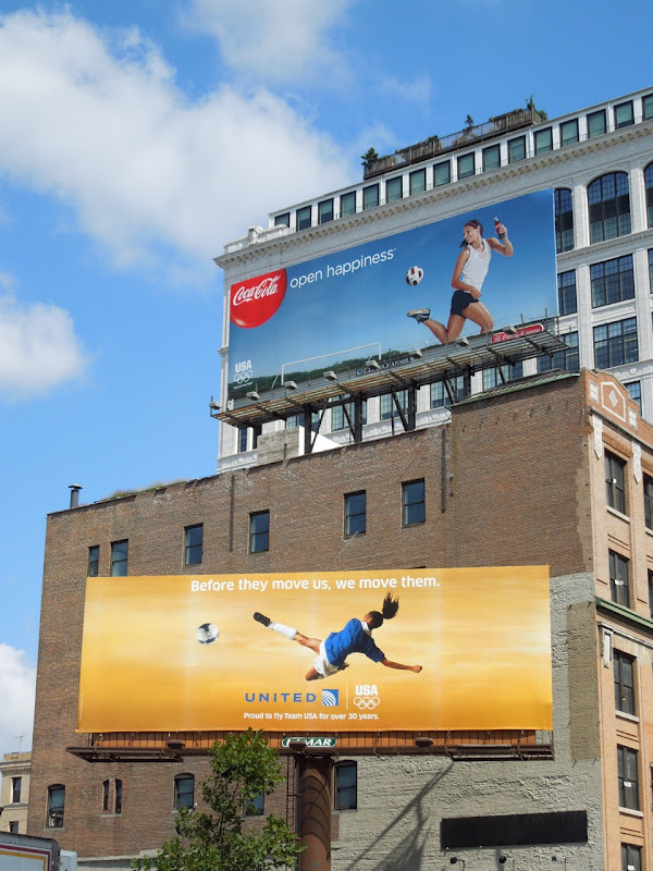 Olympics 2012 sponsor billboards NYC