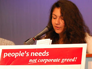Mariam Ahmad, candidate of the Communist Party of Canada. Foto: Rebel Youth