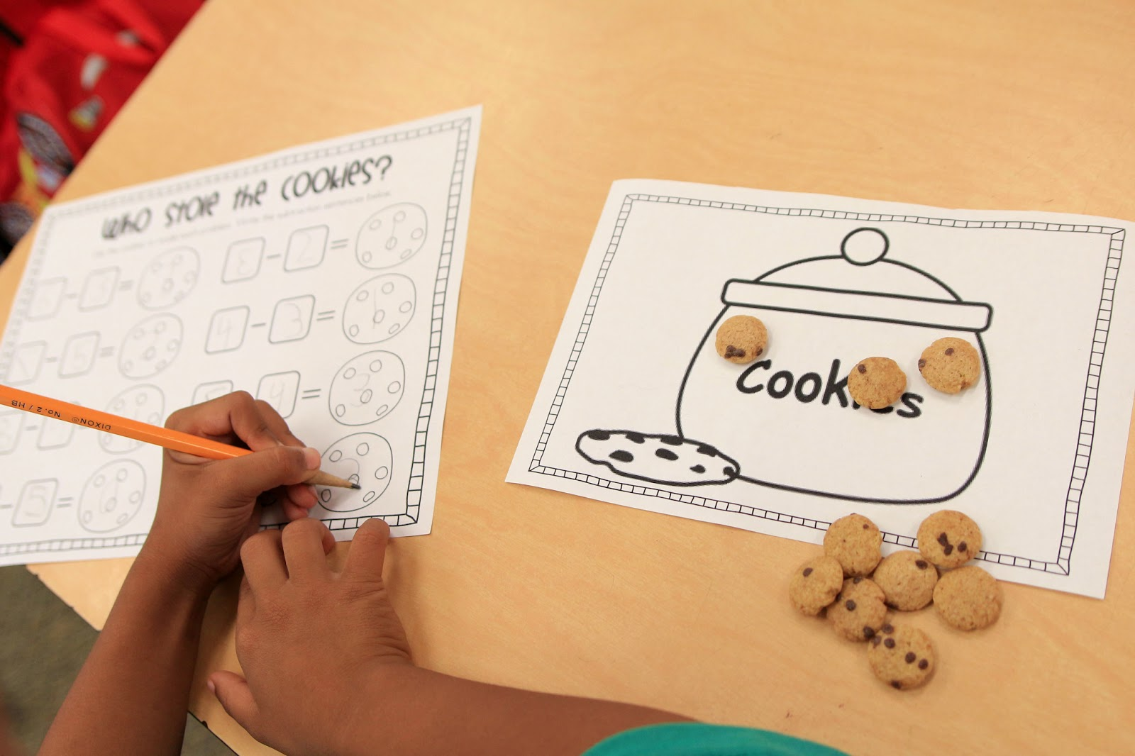 Worksheet Teaching Subtraction In Kindergarten mrs riccas kindergarten subtraction action freebies take the work mats home so they could practice with their cereal in morning love it click here for my cookie subtrac
