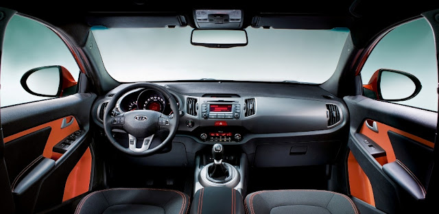 Interior shot of 2011 Kia Sportage