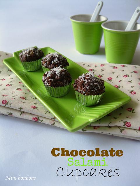 mini cupcakes.. salame al cioccolato • chocolate salami cupcakes