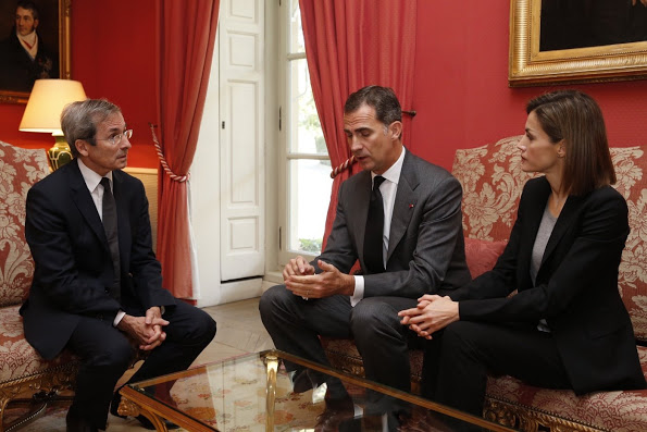 King Felipe And Queen Letizia Visited The French Embassy In Spain