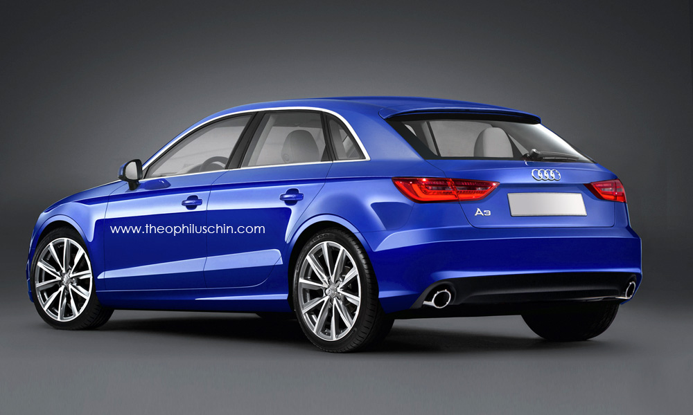 rendered next gen audi a3 sportback and sedan. Black Bedroom Furniture Sets. Home Design Ideas