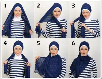 Tutorial Model Jilbab Tren 2013