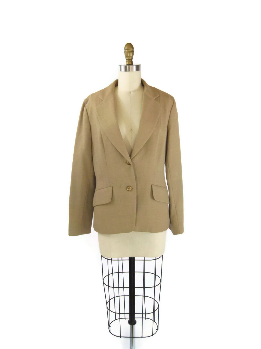 tan vintage blazer