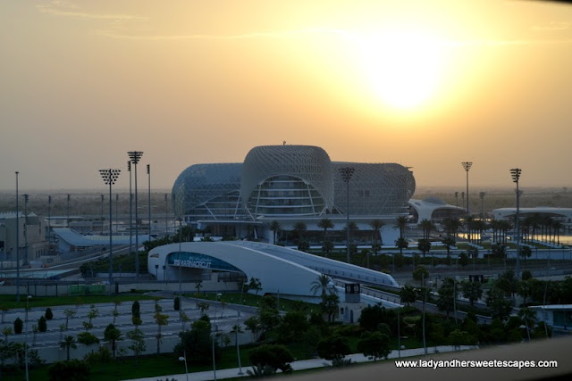 view of Yas Viceroy from Yas Island Rotana