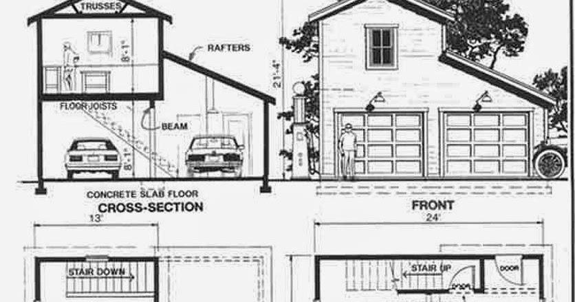 Garage plans blog behm design garage plan examples for One car garage with loft