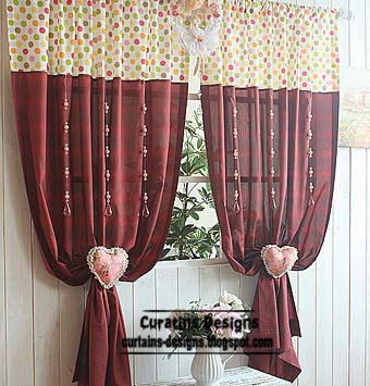 Burgundy Curtains, stylish window coverings